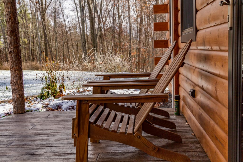 Adirondack Chairs on Cabin B's porch