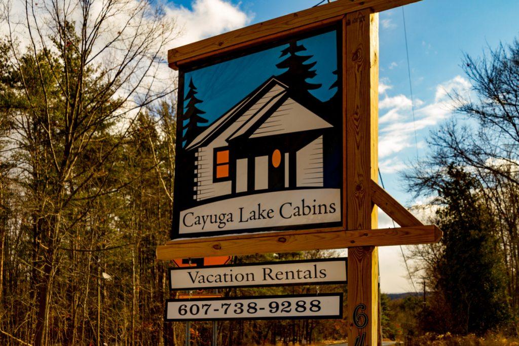 Arriving at Cayuga Lake Cabins