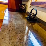 Cabin B Exposed Aggregate Kitchen counter