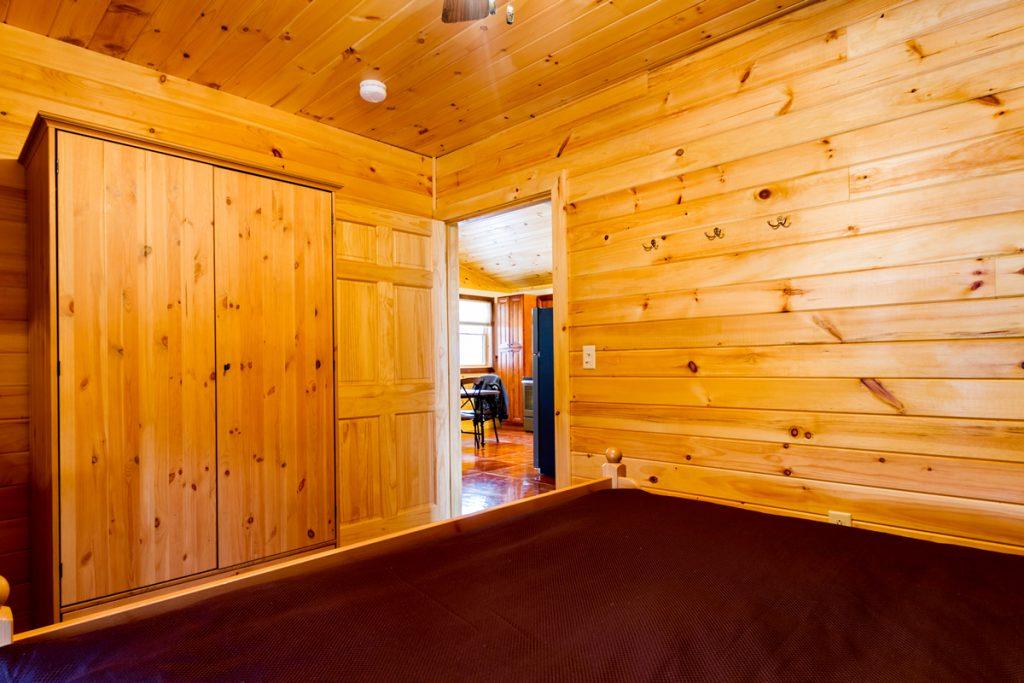 Cabin B Knotty Pine Bedroom