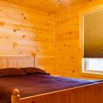 Cabin B North facing Queen Bedroom