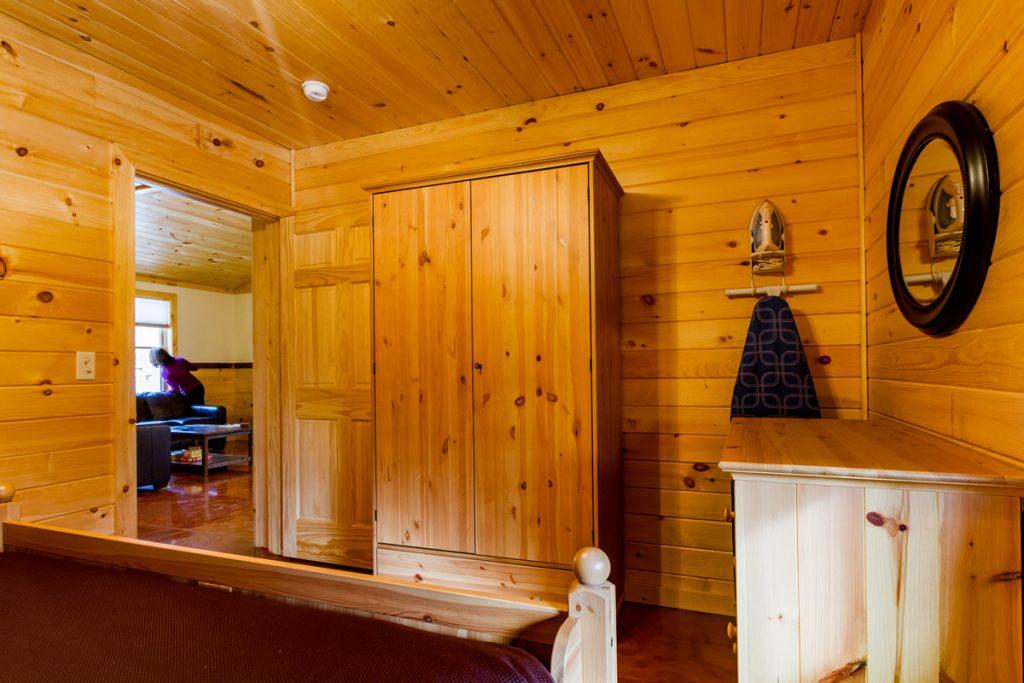 Cabin B Queen Bedroom with dresser & armoire
