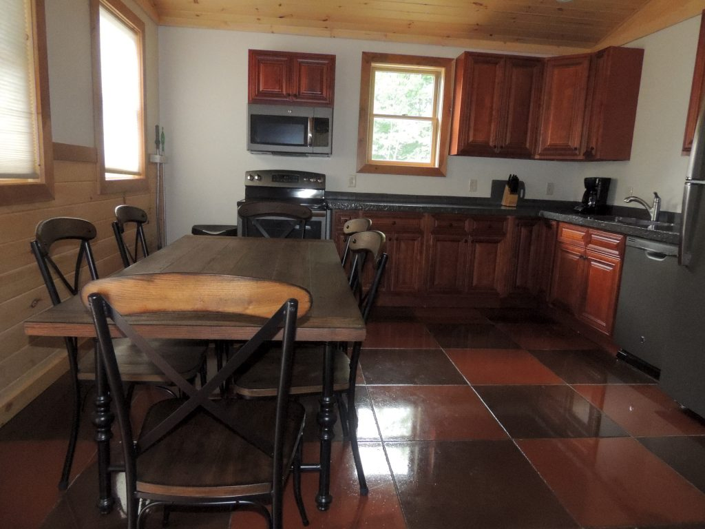 Cottage dining area seats 6