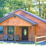 Newly constructed log cabins with modern amenities