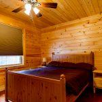 Knotty Pine in Cabin B bedroom