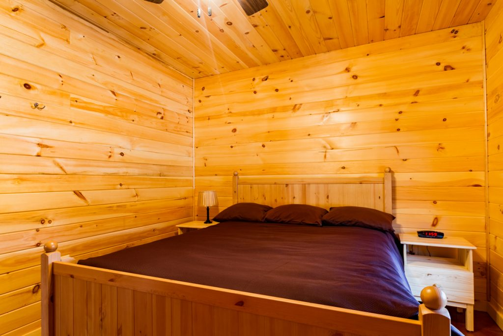 Private Queen Sized Bed in Cabin B