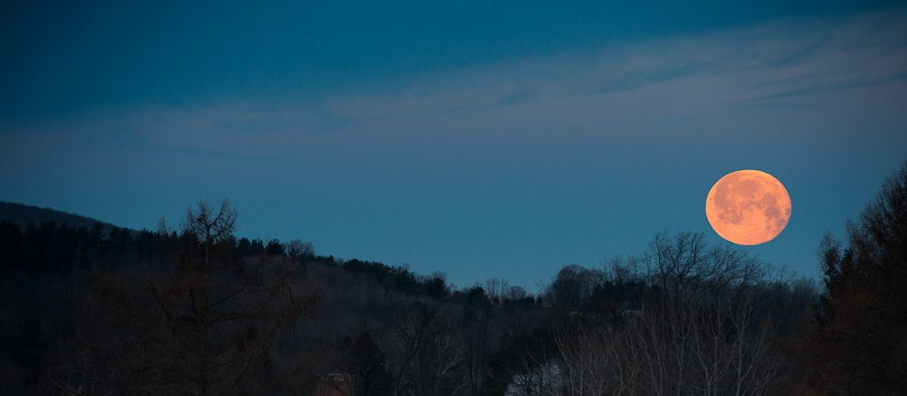 Moon Over the Finger Lakes
