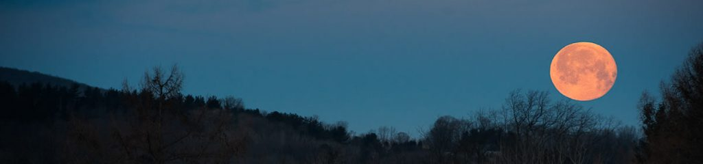 Moon Over Finger Lakes Hills